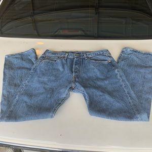Levi's 501, 32x30 button jeans